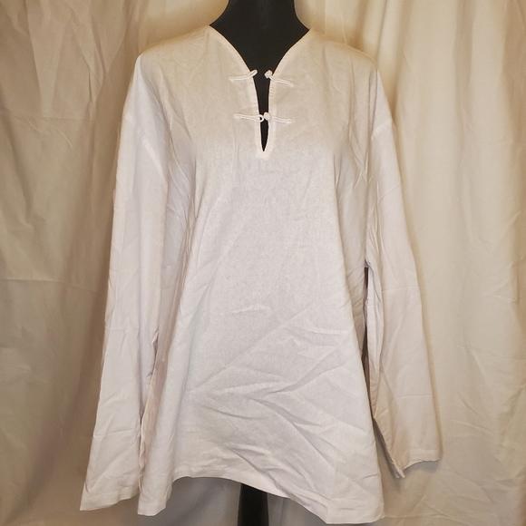 Men's XXXL white tunic